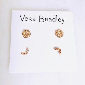 NWT Vera Bradley Trendy Rose Gold Stud Earrings